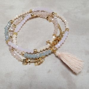 NWT Boho Stretch Stackable Bracelets